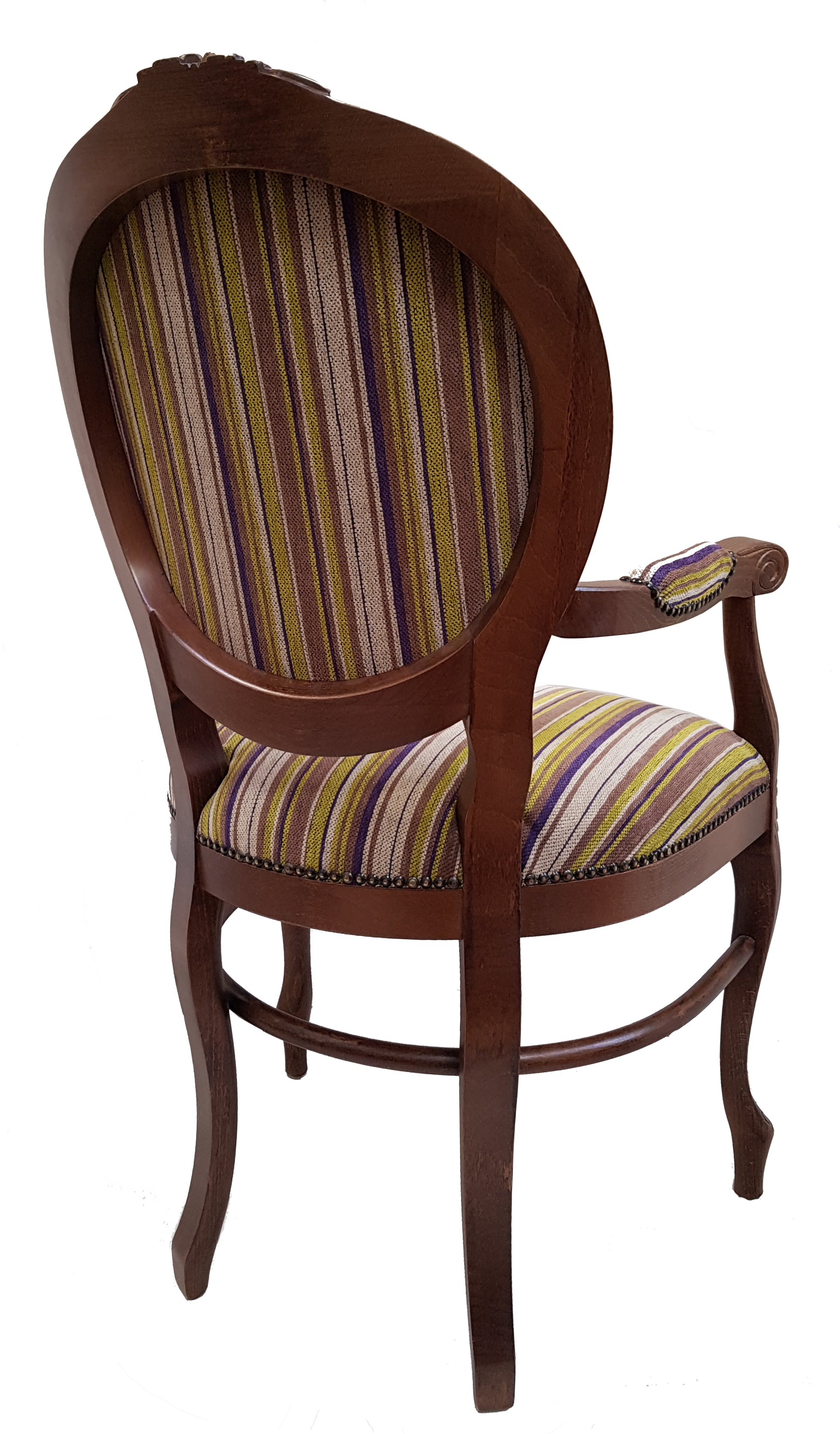 Brianzola arm chair in lime/purple