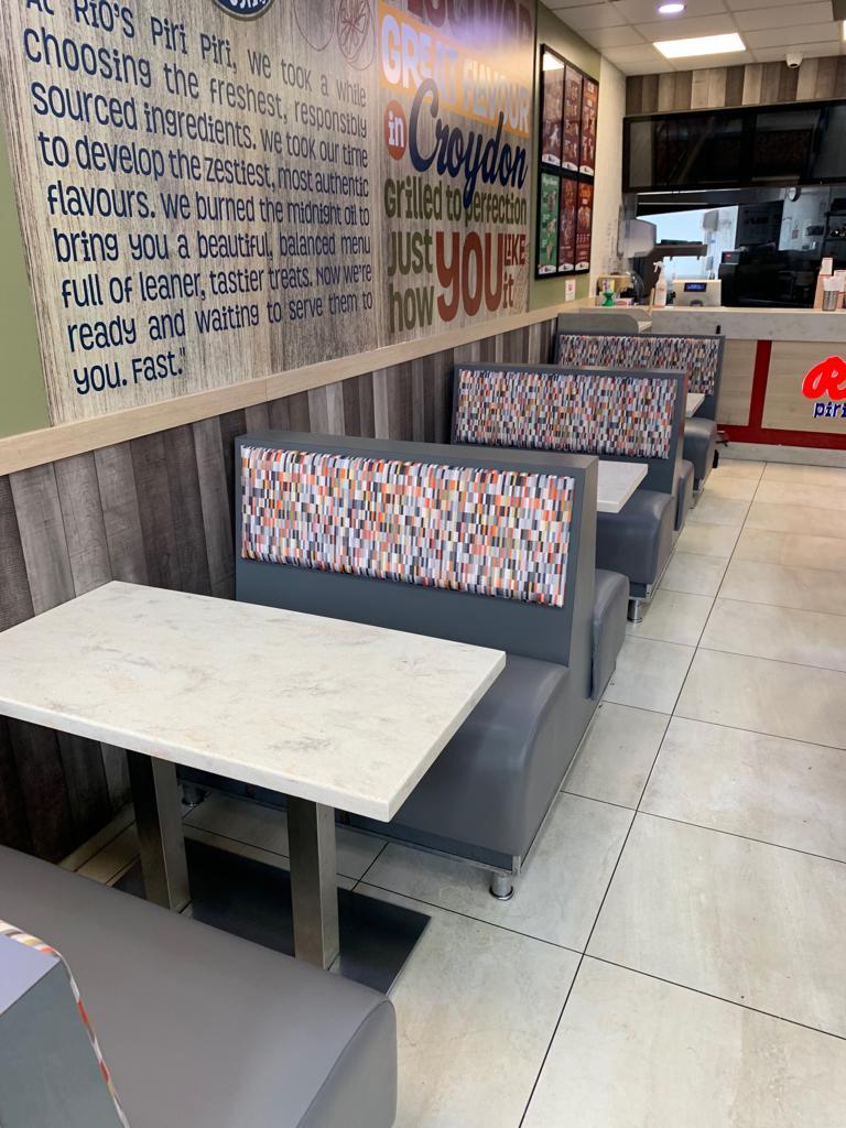 Rios restaurant showing new installation